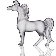 CRISTALICA Glas Figur Pferd, Deko Statue CINDERELLA stehend satiniert/matt, H=11,5cm, moderner Style (GERMAN CRYSTAL powered by