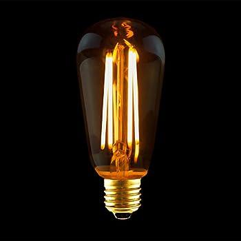 led rustika filament edison gl hbirne 4w e27 gold amazon. Black Bedroom Furniture Sets. Home Design Ideas