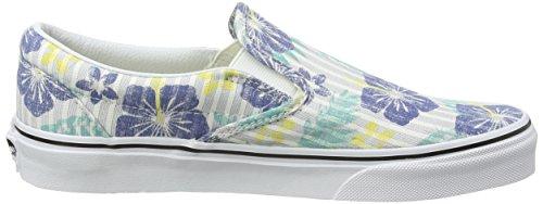 Vans Authentic, Sneakers Basses Mixte Adulte Multicolore (Aloha Stripes/True Blue/True White)
