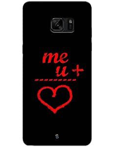 myPhoneMate Love Math Designer Printed Hard Matte Mobile Case Back Cover for Samsung Galaxy Note 7