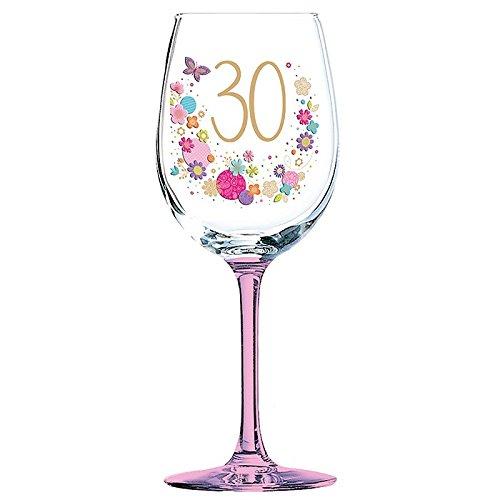30th Birthday Wine Glass - Very Popular Gift