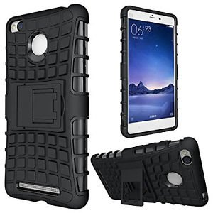 Xiaomi Mi A1 Defender    Case for Dual Layer Tough Rugged Shockproof Hybrid Warrior Armor Case Back Cover With Kickstand / Black