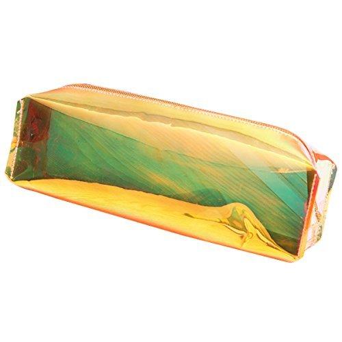 Mytobang 1 PCS Bleistift Kasten Art- und Weiseholographischer Laser Bleistift Kasten Feder Halter Verfassungs Kasten Reißverschluss häusliche Aufbewahrungsbeutel Büro Schule Briefpapier (Laser-feder)