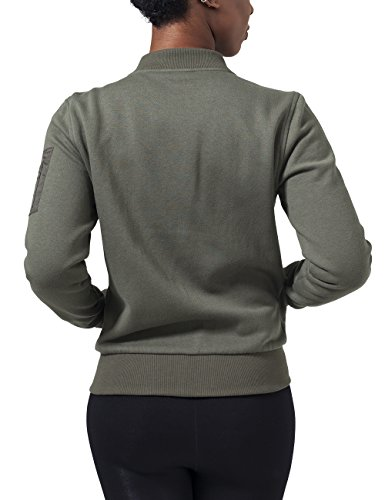 Urban Classics Damen Jacke Ladies Sweat Bomber Jacket Grün (olive 176)