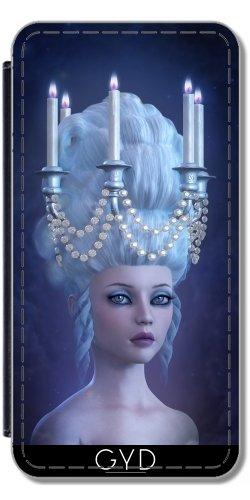 Custodia in PU Pelle per IPhone 5/5S - Illuminazione Rococo by Britta Glodde - Parrucca Portatile Del Supporto