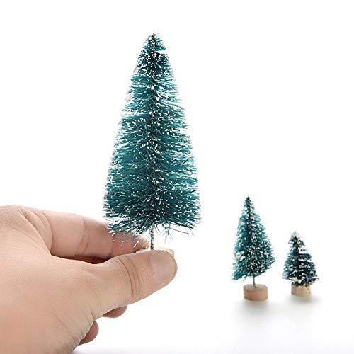 Ogquaton Weihnachten Winter Baum Mini Zeder Ornamente Party Dolls House Miniature Decor - 4.5 langlebig und nützlich