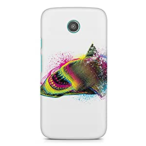 Shark Moto G2 Printed back cover. Polycarbonate Hard case with premium quality and matte finish phone cases