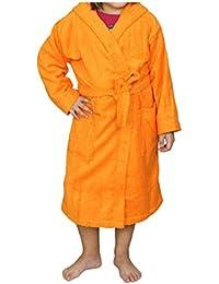 ... Pijamas y batas : Albornoces : Algodonea. Albornoz Infantil, Rizo, 100% algodón, Naranja.