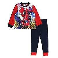 Marvel Boys Spiderman Long Pyjamas - City Scene