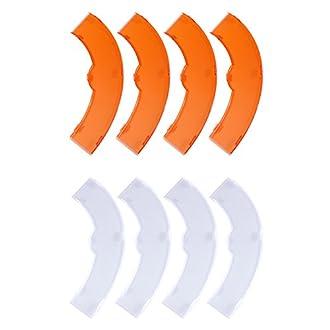 Neewer – Set di filtri colore arancione e bianco per Neewer 600 W 5500 K dimmerabile anello fluorescente Flash Light