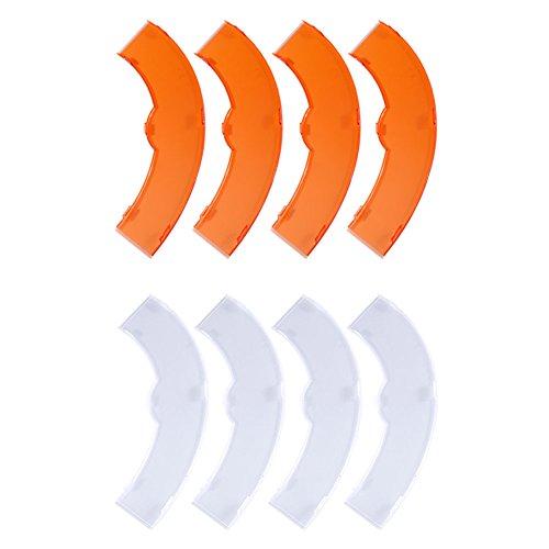 Neewer Orange und Weiß Farbfilter Set für Neewer 18 Zoll/48 Zentimeter 75W 600W 5500K Ring Licht und 55W 240 Stück LED SMD 5500K Dimmbares Ring Licht