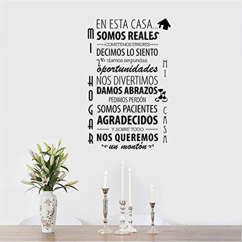 PANDABOOM Geschenke Spanische Buchstaben Wandaufkleber Dekoration Aufkleber Für Wohnzimmer DIY Callygraphy Vinyl Art