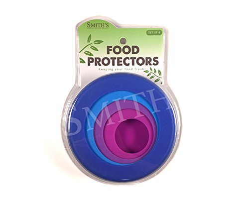 Smith's 4er-Pack wiederverwendbare Silikon-Nahrungsmittelretter für Obst und Gemüse in Lagerbehältern - 4 Größen in Beere
