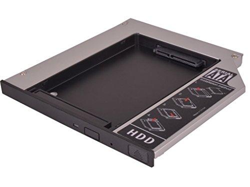 'Universal HDD/SSD Adapter für Laptop und Notebook Adapter Festplatte SATA 2,5–12,7mm–2. HDD Caddy Kit–Bucht Optisches Laufwerk (Festplatten-adapter-kit)