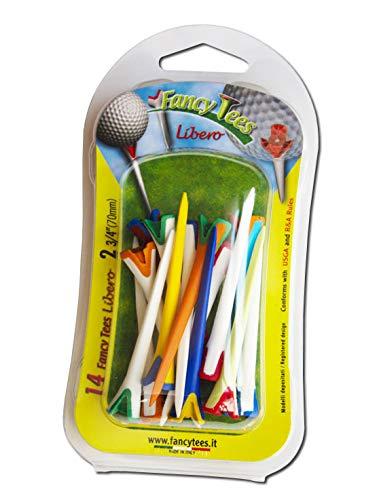 fancytees ft Lib b 14_ 70, Tees de Golf en Deux matières Plastiques et Minimum Contact avec la Balle Mixte Adulte, Multicolore, Unique