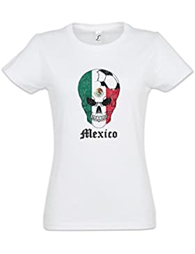 Urban Backwoods Mexico Football Skull I Mujer Girlie Women T-Shirt Tamaños XS – 2XL