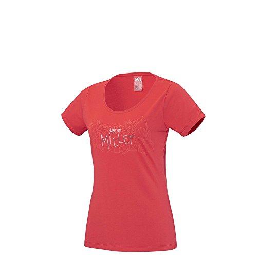 T-shirt Millet Ld Borah Peak Lime Light Rouge