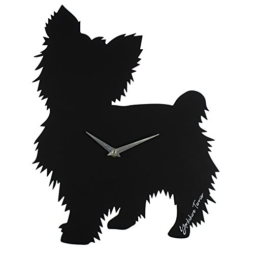 best-of-breed-dog-scontornabile-silhouette-quarzo-orologio-da-parete-yorkshire-terrier
