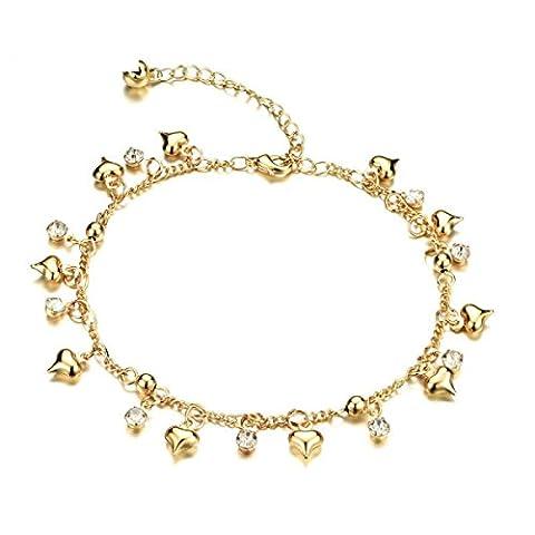 CHENGYUXUAN Vent College Mignon Fille Cloche Suspendu Diamant Bracelet De Cheville Cadeau D'anniversaire Mode élégant Doux