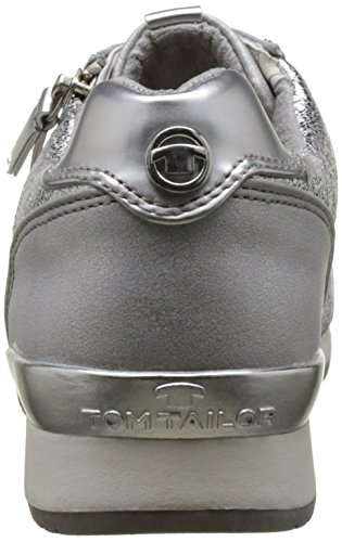 Tom Tailor - 2794105, Pantofole Donna Argento (Silver)