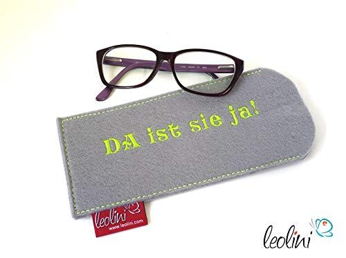 Brillenetui Brillenhülle Brillentasche Etui für Brille Da ist sie ja - handmade by Leolini