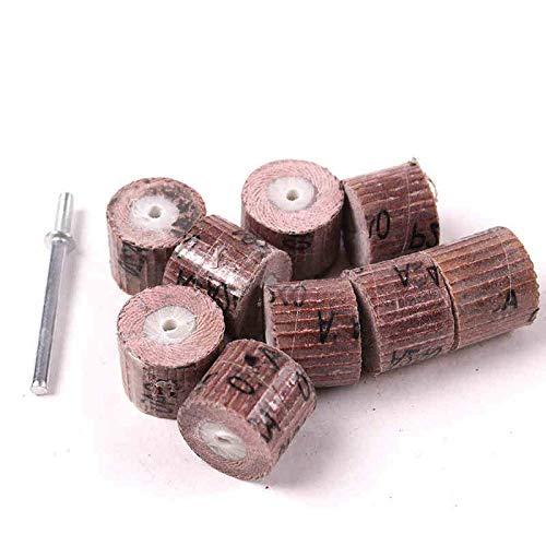 LIUPIPI Schmirgelpapier 10Pcs 12.7mm Schmirgelpapier Schleifscheibe Mini Drill Zubehör rotierendes Werkzeug Polierscheibe zur Holzpolier