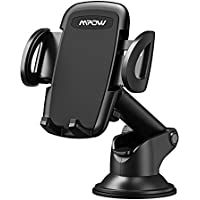 Phone Holder for Car, Mpow Dashboard Phone Mount with Telescoping Long Arm, Car Mount with Quick Release Button In Car Holder Car Cradle for iPhone 8 7 6 6 Plus 5 Galaxy Samsung S8 S7 LG HTC & Others