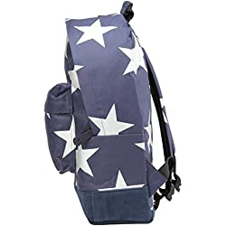 Mi-Pac Stars Xl Backpack Mochila Tipo Casual, 41 cm, 17 Litros, Navy/Silver