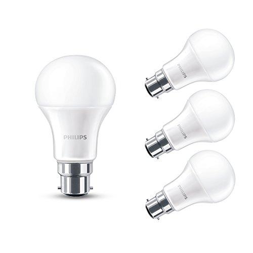 Philips Ampoule LED 230 V avec culot B22 14 W Blanc chaud surface effet givré, Lot de 4, B22 230 volts