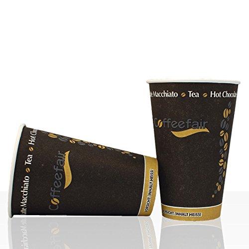 Coffee to go Becher von Coffeefair Hartpapier 0,3l, 50Stk, Kaffeebecher