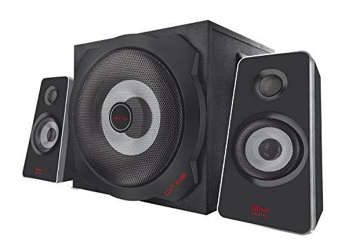 Trust GXT 638 2.1 Digitaler Gaming Lautsprecher mit optischem Eingang und Subwoofer für PS4/PC/Xbox One, schwarz