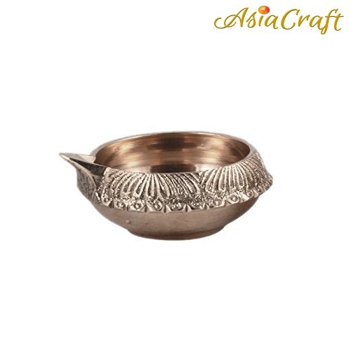 AsiaCraft ® Beautiful Brass Diwali Kuber Deepak (Diya Oil Lamp) For Puja Home Décor (Set of 1)  available at amazon for Rs.129
