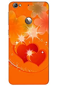 AMAN Sprinkling Love 3D Back Cover for LeEco Le 1s