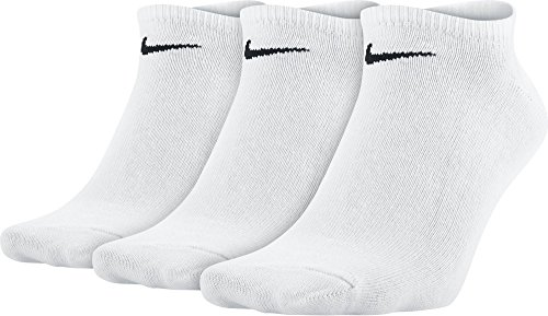 Nike Socken 3 Paar Value No Show, White/Black, M (38-42 EU), SX2554-101 (Packs 3pr)