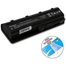 Batteriol Batterie pour Ordinateur Portable HP 593553-001 MU06 Pavilion dv7-4000 g7 g6 CQ42 CQ56 CQ57 CQ62, 6 Cells 10.8V 4400mAh [Classe énergétique A+++]