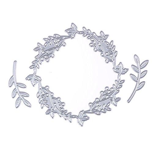 ablonen Blumen Stirnband Kränze Form für DIY Scrapbooking Album, Schneiden Schablonen Papier Karten Sammelalbum Dekor (Blume Stirnbänder Diy)