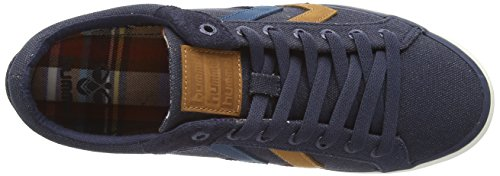 Hummel Deuce Court Waxed Canvas, Sneakers Unisex Blu (Blau (Dress Blue))