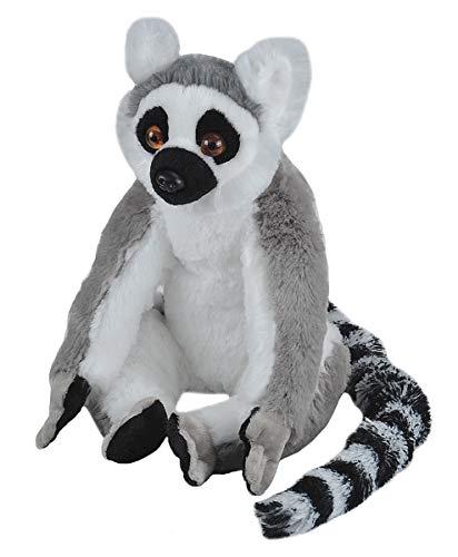 (Wild Republic 10948 Plüsch Ringelschwanz Lemur Katta, Cuddlekins Kuscheltier, Plüschtier, 30cm)