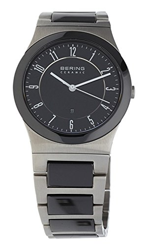 Bering Time Men's Quartz Watch with Black Dial Analogue Display Quartz Stainless Steel Coated 32235 747