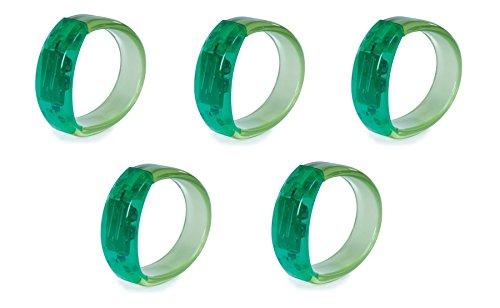 Bundle - 5 x Gel Stone Light-Up-Armband - GREEN - 5 LIEFERUMFANG (Versand aus UK)