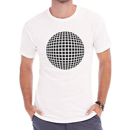Optical illusion Black And White Dots Between Herren T-Shirt Weiß