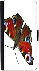 Snoogg Butterfly Graphic Snap On Hard Back Leather + Pc Flip Cover Htc Desire...