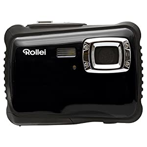 Rollei Sportsline 64 - Digital Camera with 5 Megapixels CMOS sensor and HD Video function 720p (1280 x 720 Pixel) - Waterproof up to 3 m - Black