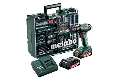 Metabo Y/602317870 SB 18 L SET Elektrowerkzeuge, 18 V, Schwarz/Grün
