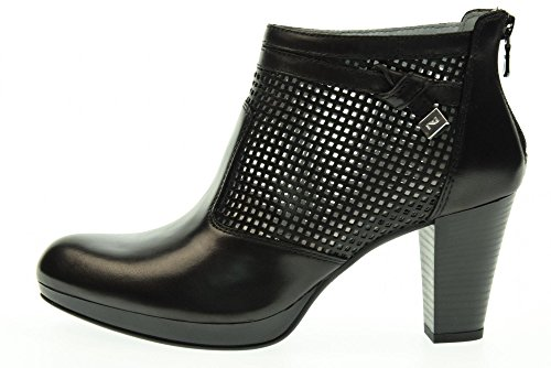 NERO GIARDINI scarpe donna tronchetti con tacco alto P717010D/100 Nero