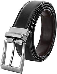 Axe Style Boy's Casual & Formal Reversible Belt Black/Brown (Size 28-44 Cut to fit men's Belt) (X-6O01)