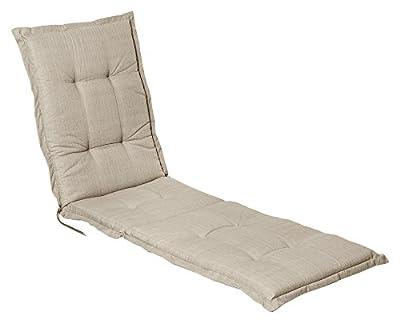 """Stuhlauflage für Hochlehner Auflage Gartenstuhlauflage """"Madison Sand"""" 50x118x4 cm von Schwar Textilien - Gartenmöbel von Du und Dein Garten"""