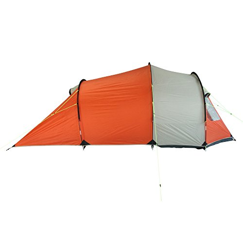 10T Mandiga 3 Orange - Tunnelzelt für 3 Personen, Campingzelt mit großer Schlafkabine, wasserdichtes Familienzelt mit 5000mm, Zelt mit 2 Eingängen und 2 Fenstern, Festivalzelt mit Dauerbelüftung, 3 Mann Zelt mit Tragetasche, Zeltheringe und Zeltgestänge - 14