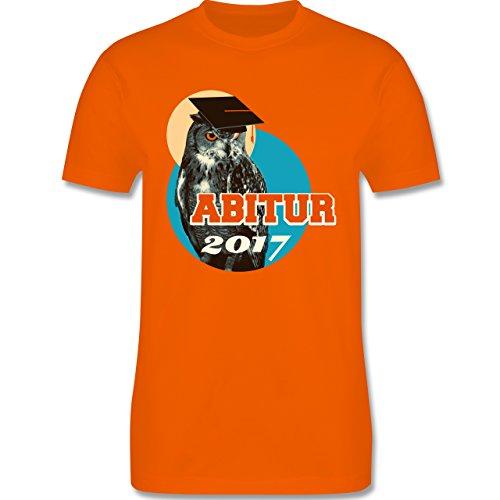 Abi & Abschluss - ABITUR 2017 Vintage Eule - Herren Premium T-Shirt Orange