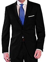 Herren Anzug aus reiner Schurwolle in Schwarz, Marke Lanificio Tessuti Italia (42-60, 24-30, 90-114)